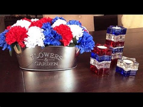 tree branches home decor branches 4th of july decor red dollar tree diy 4th of july home decor youtube