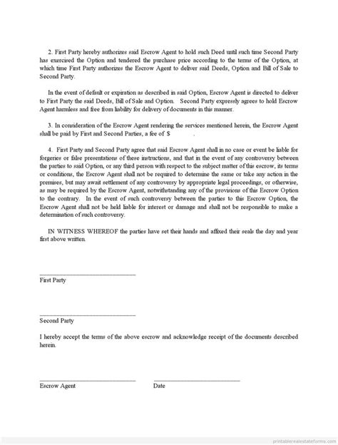 Letter Of Credit Escrow Agreement Best Photos Of Sle Escrow Agreement Sle Escrow Agreement Form Sle Escrow Agreement