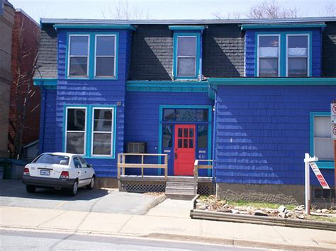 blue house with red door blue house with a red door flickr photo sharing