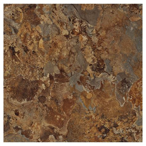 shop armstrong flooring terraza 1 piece 12 in x 12 in patina shale peel and stick stone vinyl