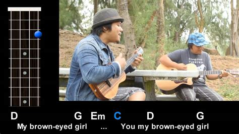 strum pattern to brown eyed girl quot brown eyed girl quot van morrison ukulele play along youtube