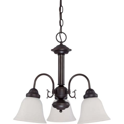 glomar 3 light mahogany bronze vanity light with chagne linen washed glass hd 1265 the home glomar 3 light mahogany bronze chandelier with frosted white glass shade hd 3142 the home depot