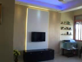 backlit tv panel with white laminates backlit glow with