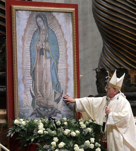 imagenes virgen de guadalupe con el papa el tiempo no le impedir 225 al papa rezarle a la virgen de