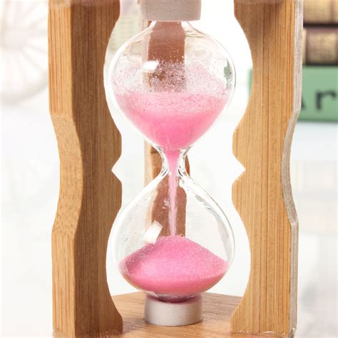 1 minute sandglass bamboo frame hourglass timer time