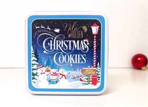 christmas biscuits tin gift by nila holden cookies