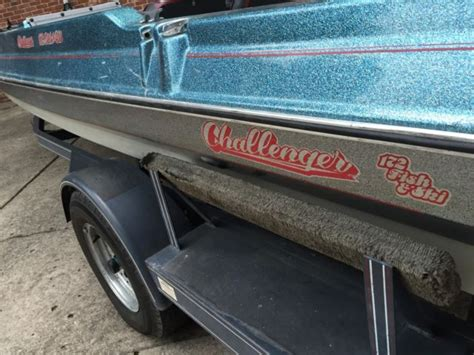 challenger bass boat parts 1990 challenger bass boat 17ft 90hp mercury no reserve