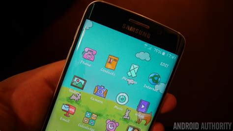 themes samsung galaxy s6 edge samsung galaxy s6 edge hands on and first impressions