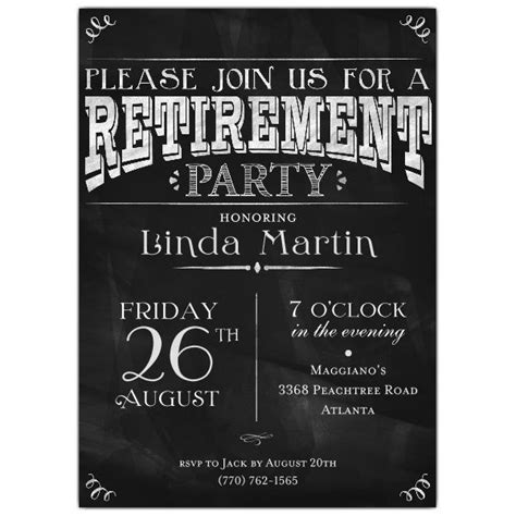 per invite template invitation ideas free retirement invitation