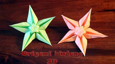 Tutorial Membuat Origami Bintang 3d | tutorial origami bintang 3d step by step youtube