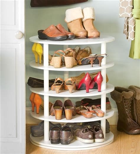 lazy susan cupboard comocriarfacebook com shoe storage diy projects for small spaces decorating