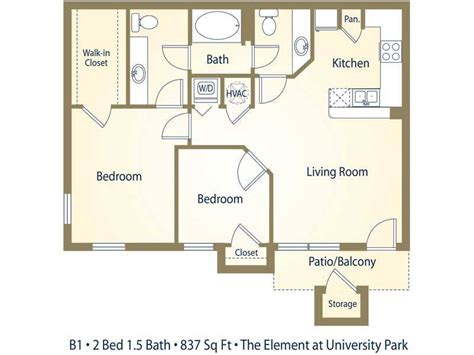 Bathroom Floor Plans With Washer And Dryer Apartment Floor Plans Pricing The Element At