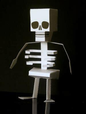 Make A Paper Skeleton - make a papercraft skeleton boing boing