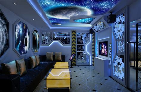 space bedroom ktv room decoration space theme 3d house free 3d house