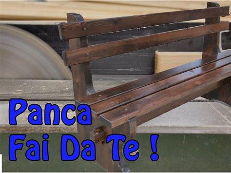 costruire una panchina in legno come realizzare una panca fai da te