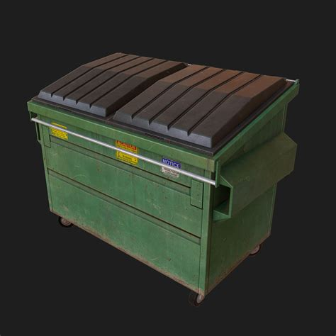 Dumpster 3d Model Free trash dumpster 3d model