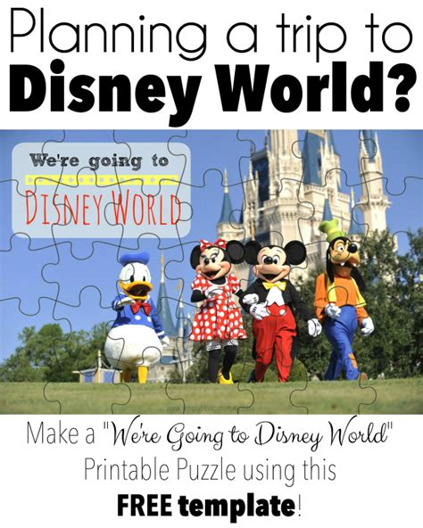we re going to disney world printable puzzle simply