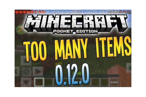 too many items mod minecraft pe download