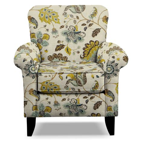 Floral Living Room Chairs Tracy Accent Chair Floral Value City Furniture