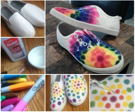 tie dye shoes diy sharpie shoes ideas images