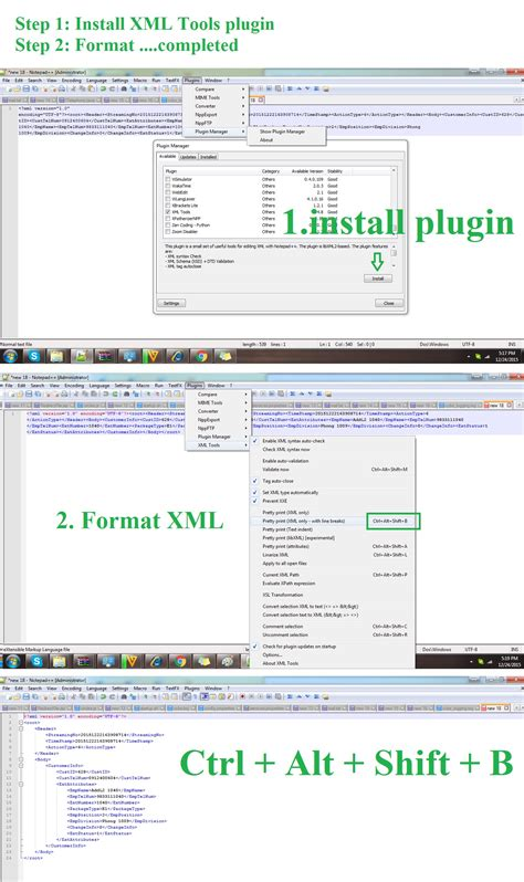 xml layout notepad code formatting how to format xml in notepad stack