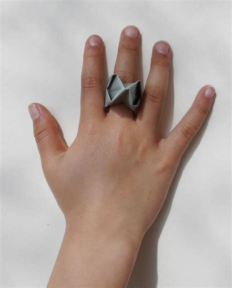 Origami Rings - diy s day origami ring