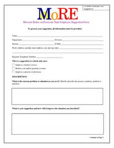 employee suggestion form template best photos of suggestion box exles suggestion box