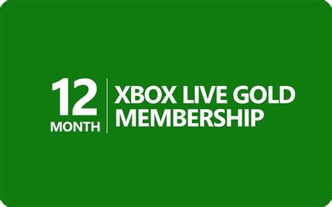 Xbox Live 12 Month Gift Card - xbox live gold subscription