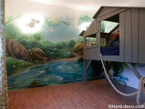deco chambre enfant jungle d 233 cor de jungle et rivi 232 re pour une chambre d enfant avec