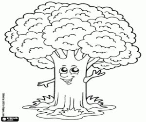 tree coloring pages printable games