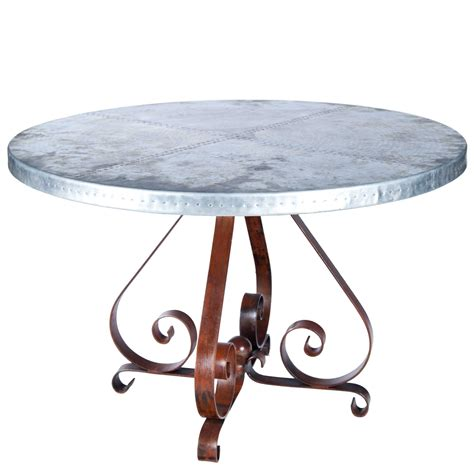 round zinc table top x img 0980g round zinc dining table kitchen furniture by