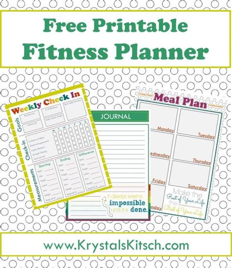 printable meal planner to lose weight free fitness journal meal planning printables simple