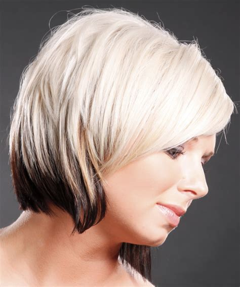 two tone color hair and styles for women short two tone hair color