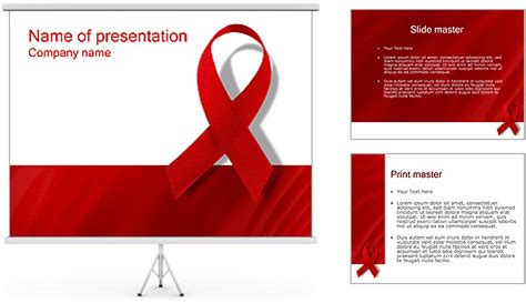 aids template aids powerpoint template backgrounds id 0000000452