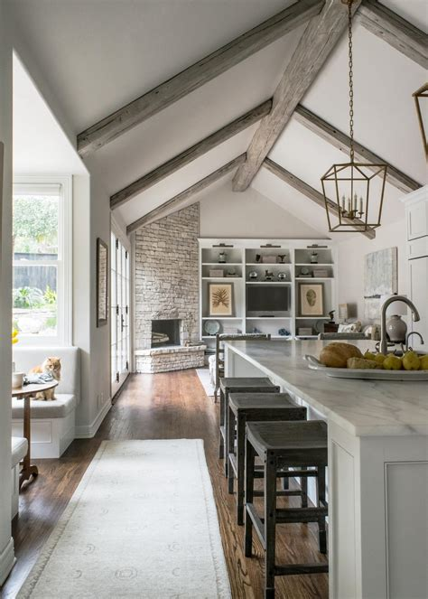 Houzz Ceilings by Open Concept Vaulted Ceiling Houzz Open Kitchen To Living Room Norma Budden