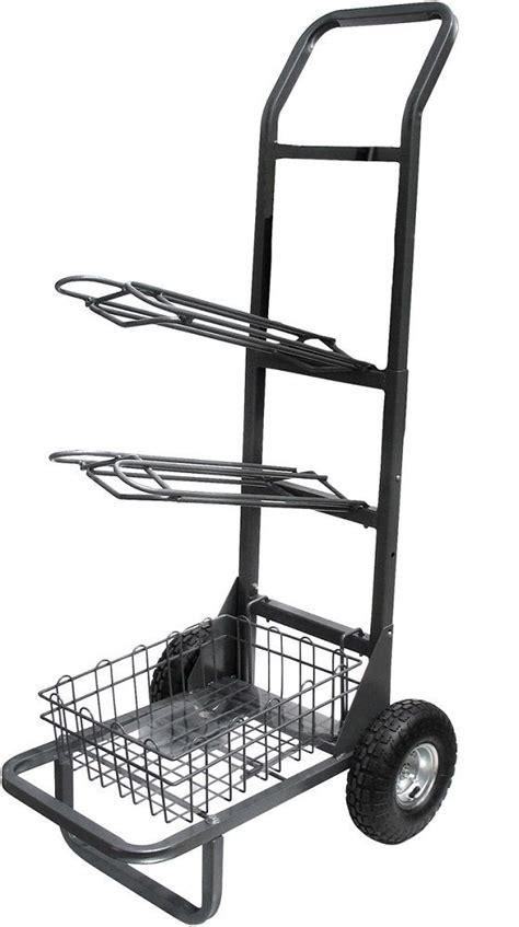 Rolling Saddle Rack by Rolling 2 Rack Saddle Cart With Basket Heavy Duty Wheel Ebay
