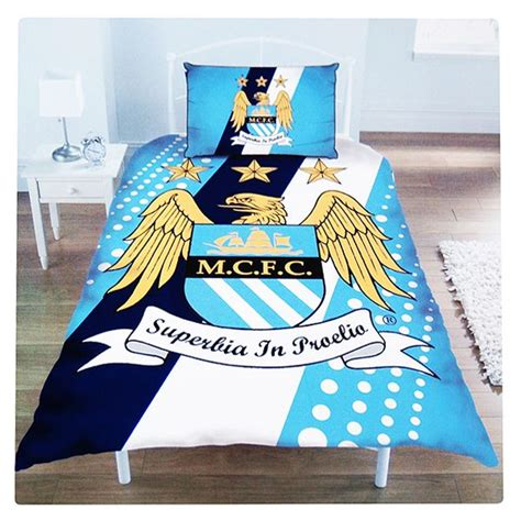 Bedcover Set Single Manchester City manchester city football club single size duvet cover bedding set