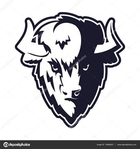 buffalo head logo mascot stock vector 169 belopoppa 143892421