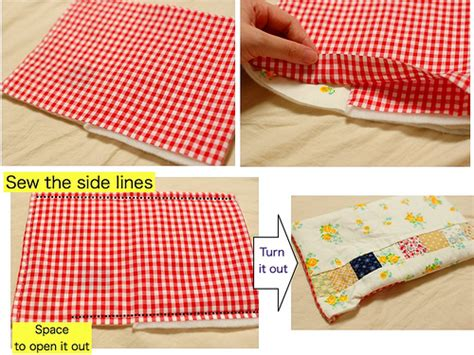 How To Make Patchwork - mairuru how to make a patchwork button pouch