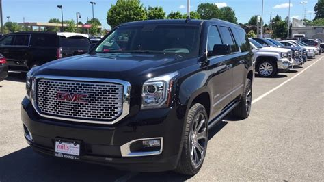 Gmc Yukon Denali Blacked Out by 2016 Gmc Yukon Xl Denali 4wd Heads Up Dislpay Black Oshawa
