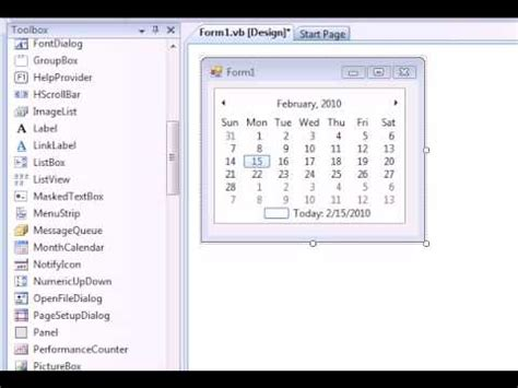 design calendar in vb net vb net how to make a monthly calendar for your computer