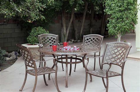 patio furniture dining set cast aluminum 52 quot table w
