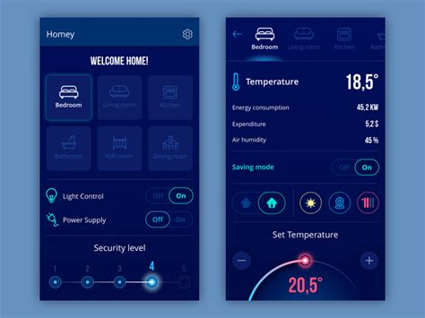 app design navigation homey app by tubik dribbble