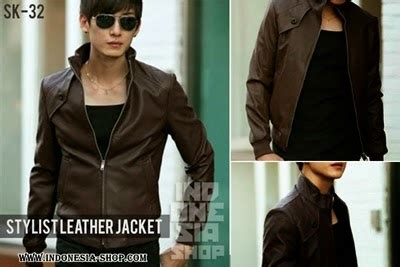 Jaket Kulit Korean Style Coklat fashion korea jaket kulit fashion korean style