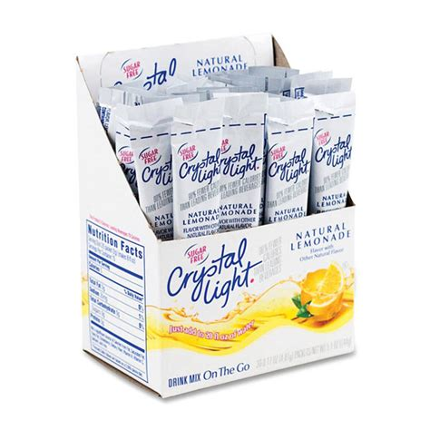 crystal light drink mix crystal light drink mix lemonade on the go box