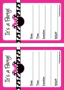 minnie invitations minnie mouse invitations free printable ideas from family