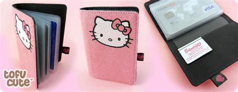 Hello Kitty Gift Card Holder - buy hello kitty glitter pink suedette card holder at tofu cute