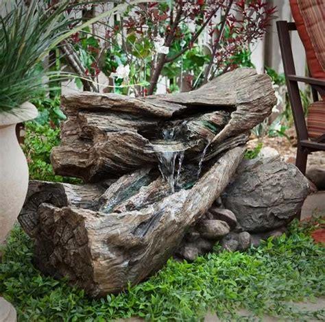 transformer  tronc darbre en fontaine bricolage maison