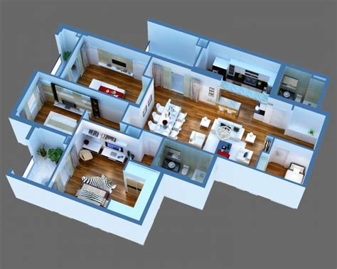house interior 3d model 3d model luxury detailed house cutaway cgtrader