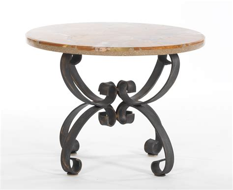 wrought iron accent table a marble top wrought iron base accent table 05 23 13